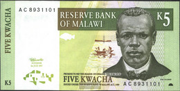 Malawi Pick-number: 36a Uncirculated 1997 5 Kwacha - Malawi