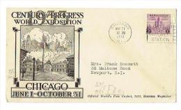Sonderumschlag Echtgelaufen Zur Weltausstellung 1933 In Chicago - Weltausstellung