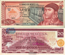 Mexico Pick-number: 64d Uncirculated 1977 20 Pesos - Mexico