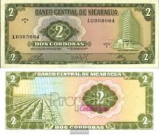 Nicaragua Pick-number: 121a Uncirculated 1972 2 Córdobas - Nicaragua