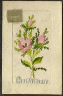 """Brodée Tissu  Fleurs """"Anniversaire"""" - Anniversaire"""