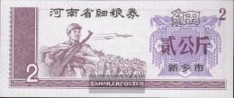 People's Republic Of China Chinese Lebensmittelgutschein Uncirculated 2 Jiao Military - China