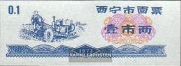 People's Republic Of China Chinese Reisgutschein Uncirculated 1973 0,1 Jin Ackerpflug - China