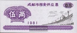 People's Republic Of China Chinese Reisgutschein Uncirculated 1981 0,5 Jin Dam - China