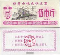 People's Republic Of China Chinese Reisgutschein Uncirculated 1981 5 Jin Railway - China