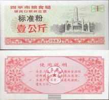 People's Republic Of China Orange C ChinesisCher MehlgutsChein Uncirculated 1987 1 Jin - China