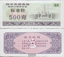 People's Republic Of China Purple C ChinesisCher MehlgutsChein Uncirculated 1987 1/2 Jin - China
