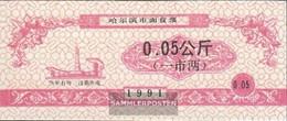 People's Republic Of China Red Chinese Lebensmittelgutschein Uncirculated 1991 0,05 Jiao - China