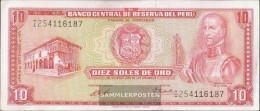 Peru Pick-number: 100b (1971) Uncirculated 1971 10 Soles - Peru