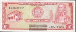 Peru Pick-number: 100c (1974) Uncirculated 1974 10 Soles - Peru