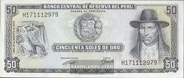 Peru Pick-number: 101c (08/1974) Uncirculated 1974 50 Soles Oro - Peru