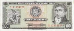 Peru Pick-number: 102c (05/1974) Uncirculated 1974 100 Soles Oro - Peru