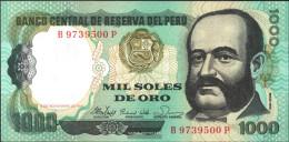 Peru Pick-number: 122a Uncirculated 1981 1.000 Soles De Oro - Pérou