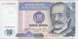 Peru Pick-number: 128 (1985) Uncirculated 1985 10 Intis - Peru