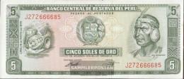 Peru Pick-number: 99c (05/1974) Uncirculated 1974 5 Soles - Peru