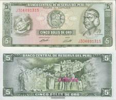 Peru Pick-number: 99c (08/1974) Uncirculated 1974 5 Soles - Peru
