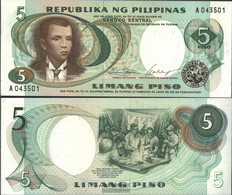 Philippines Pick-number: 143a Uncirculated 1969 5 Piso - Philippines