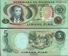 Philippines Pick-number: 160d Uncirculated 1978 5 Piso - Philippines