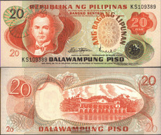 Philippines Pick-number: 162a Uncirculated 1978 20 Piso - Philippines