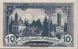 Putzleinsdorf Notgeld The City Putzleinsdorf Uncirculated 1920 10 Bright - Austria