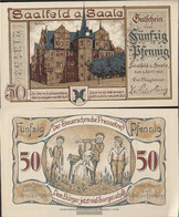Saalfeld Notgeld: 1155.2a) Notgeld The City Saalfeld Uncirculated 1921 50 Pfennig Saalfeld - [11] Local Banknote Issues