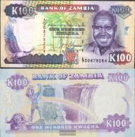 Sambia 34a Uncirculated 1991 100 Kwacha Adler - Zambia