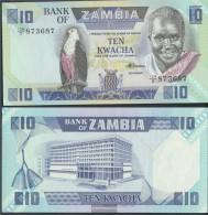 Sambia Pick-number: 26e Uncirculated 1988 10 Kwacha Eagles - Zambia