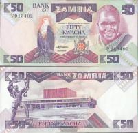 Sambia Pick-number: 28a Uncirculated 1988 50 Kwacha Eagles - Zambia