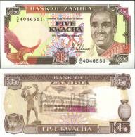 Sambia Pick-number: 30a Uncirculated 1989 5 Kwacha - Zambia