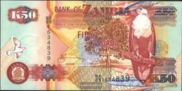 Sambia Pick-number: 37d Uncirculated 2003 50 Kwacha Eagles - Zambia