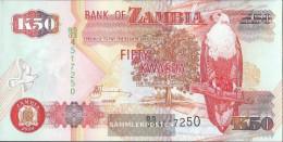 Sambia Pick-number: 37h Uncirculated 2009 50 Kwacha - Zambia