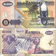 Sambia Pick-number: 38d2 Uncirculated 2003 100 Kwacha Eagles - Zambia