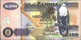 Sambia Pick-number: 38e Uncirculated 2005 100 Kwacha Eagles - Zambia