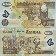 Sambia Pick-number: 43d Uncirculated 2005 500 Kwacha - Zambia