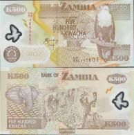 Sambia Pick-number: 43f Uncirculated 2008 500 Kwacha - Zambia