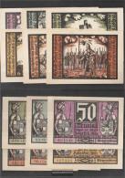 Schalkau Notgeld: 1171.1 Six Notgeldscheine The City Schalkau Uncirculated 1921 6 X 50 Pfennig Schalkau - [11] Local Banknote Issues