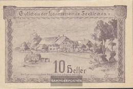 Seekirchen Notgeld The Community Seekirchen Uncirculated 1920 10 Bright - Austria