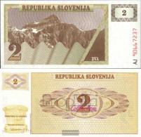 Slovenia Pick-number: 2a Uncirculated 1990 2 Tolarjev - Slovenia