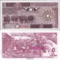 Somalia 31a Uncirculated 1983 5 Shilling Büffel - Somalia