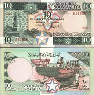 Somalia Pick-number: 32a Uncirculated 1983 10 Shillings - Somalia