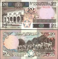 Somalia Pick-number: 33a Uncirculated 1983 20 Shillings - Somalia