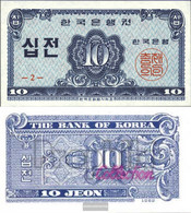South-Korea Pick-number: 28a Uncirculated 1962 10 Jeon - Korea, South