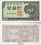 South-Korea Pick-number: 29a Uncirculated 1962 50 Jeon - Korea, South