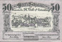 St. Veit Notgeld The Community St. Veit Uncirculated 1920 50 Bright - Austria