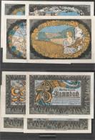 Stammbach NotgelD: 1252.3a) Four NotgelD- Scheine D. MarktgemeinDe Stammbach Uncirculated 1921 25, 50, 75 & 99 Pfennig S - [11] Local Banknote Issues