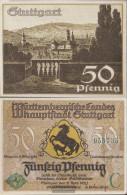 Stuttgart Notgeld: 1289.1a) C Notgeld The City Stuttgart Uncirculated 1921 50 Pfennig Stuttgart - [11] Local Banknote Issues