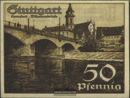 Stuttgart Notgeld: 1289.1a) D Notgeld The City Stuttgart Uncirculated 1921 50 Pfennig Stuttgart - [11] Local Banknote Issues