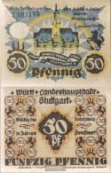 Stuttgart Notgeld: 50 Pf Notgeld The City Stuttgart Uncirculated 1921 50 Pfennig Stuttgart - [11] Local Banknote Issues