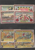 Süderbrarup Notgeld: 1294.6 Four Notgeld- Scheine The Community Süthebrarup Uncirculated 1921 4 X 25 Pfennig Süderbra - [11] Local Banknote Issues