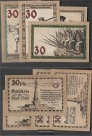Suhl Notgeld: 1303.2 Four Notgeldscheine The City Suhl Uncirculated 1922 4 X 30 Pfennig Suhl - [11] Local Banknote Issues